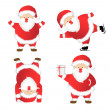 Set of Santa Claus. — Stock Vector