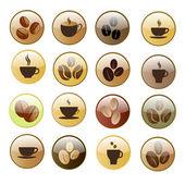 コーヒーのアイコンを設定. — ストックベクタ