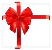 Rode en gouden vector geschenk boog en lint — Stockvector