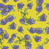 花とのシームレスなパターン — ストックベクタ