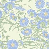 Elegance Seamless pattern with cornflowers flowers — Stock Vector