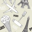 Royalty-Free Stock Vector Image: Illustration of of Paris symbols