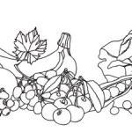 Fruits vegetables and berries vector borders — Stock Vector #19665479