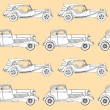 Elegance Seamless pattern with antique car — Stock Vector