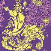 Elegance Seamless pattern flowers — Stock Vector