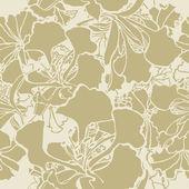 Bezešvé vzor elegance s květinami — Stock vektor