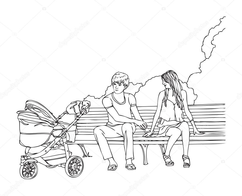 Girl Swinging On A Hand Boy and girl high school