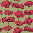 Elegance Seamless pattern with poppy flowers — Stock Vector #19674927