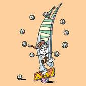 Cirkus illustration — Stockvektor