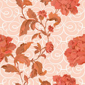 Floral illustration in vintage style — Stock Vector