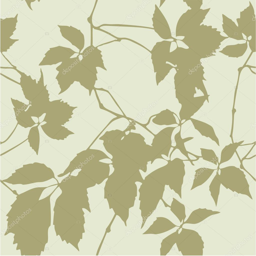 Pattern With Leaf Silhouette