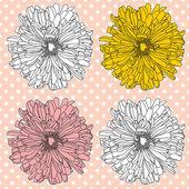 Modello con fiori — Vettoriale Stock