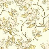 Modello senza saldatura eleganza con garofani fiori, — Vettoriale Stock