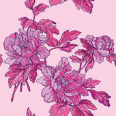 Elegance Seamless pattern with flowers, — Stock Vector