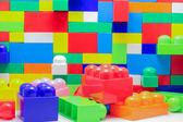 Un mur de grands blocs de lego — Photo
