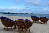 Strandstoelen in sihanouk ville, cambodja — Stockfoto