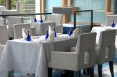 Classy restaurant table setting — Stock Photo
