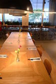 Dining table in cafe bistro — Stock Photo