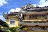 čínský chrám architektura v hoi vietnamu — Stock fotografie