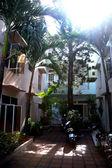 Western houses in quiet cul de sac in Danang Vietnam — Stock Photo
