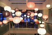 Chinese lanterns in restaurant — Stock Photo
