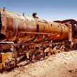 Rusty old steam locomotive - Stock Photo