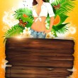 Tropical party or holiday background — Stock Photo