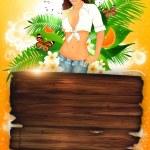 tropische partij of vakantie achtergrond — Stockfoto #19130321