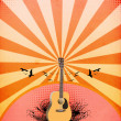 Guitar concert background — Stock Photo