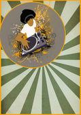 Afro DJ background — Stock Photo