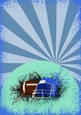 Amerikansk fotboll bakgrund — Stockfoto