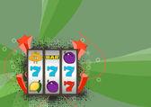 Slot machine background — Stock Photo