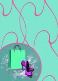 Shoe shopping background — Stock Photo