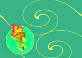 Olympic flame background — Stock Photo