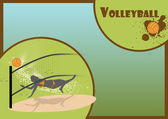 Beach Volleyball background — Stock Photo