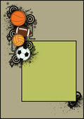 Basketball, football, handball, soccer Balls — Stock Photo