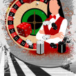 Roulette wheel an dealer girl  — Stock Photo