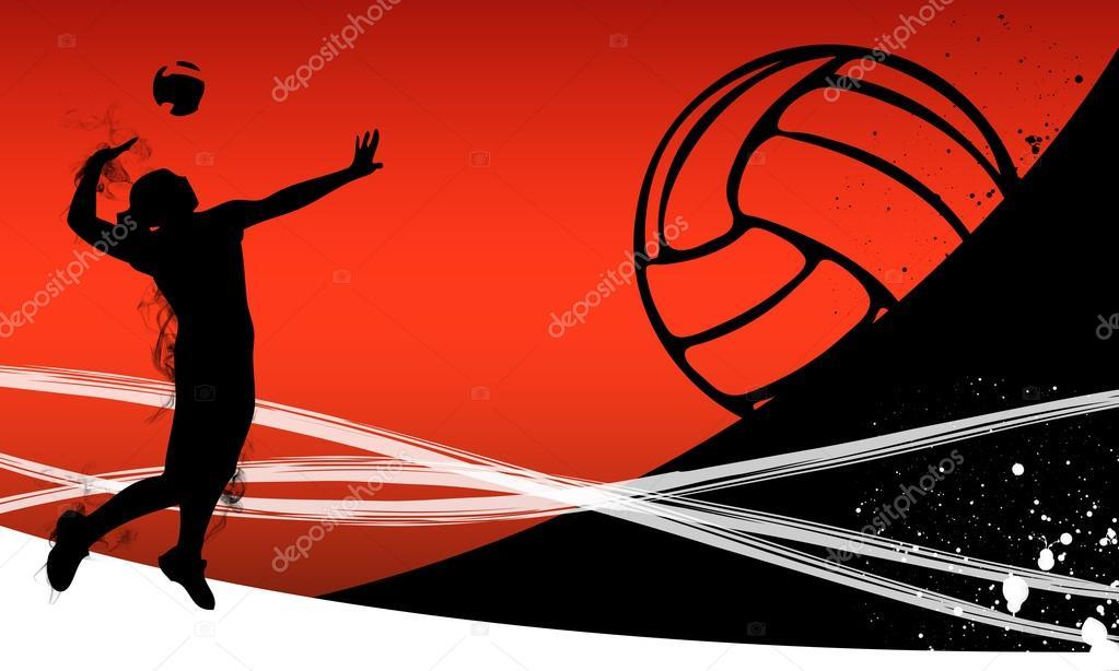 Indoor volleyball net backgrounds