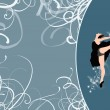 Ballet dance background — Stock Photo