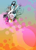 Music poster — Stock Photo