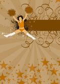 Cheerleader background — Stock Photo