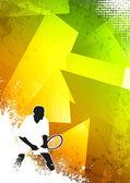 网球运动背景 — 图库照片