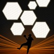 Handball background — Stock fotografie