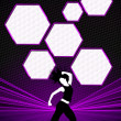 Zumba fitness dance background — Stock Photo