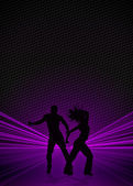 Zumba fitness dance background — Stock Photo