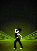 Fondo de baile zumba fitness — Foto de Stock