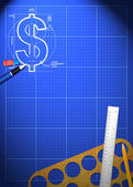 Business blueprint background — Stock Photo