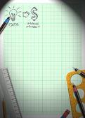 Idea and money background — Stock Photo