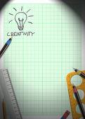 Idé och pengar bakgrund — Stockfoto