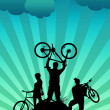 Bike tour background - Stock Photo